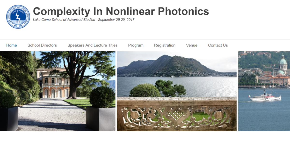 Complexity in Nonlinear Photonics in Como