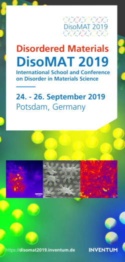 2019-DisoMAT inaugural conference launched !