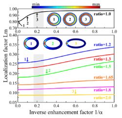 Lasing on nonlinear localized waves in curved geometry