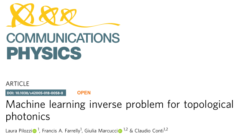 Topological machine learning paper published