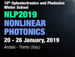 10th Optoelectronics and Photonics Winter School: NLP2019 – Nonlinear Photonics