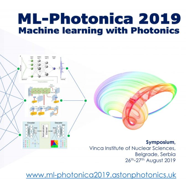 ML-Photonica 2019 Machine Learning with Photonics