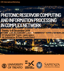 PHOTONIC RESERVOIR COMPUTING WORKSHOP IN TRENTO